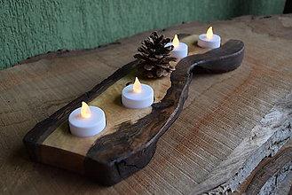 Svietidlá a sviečky - Orechový svietnik, adventný 1 - 13821766_