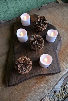 Svietidlá a sviečky - Orechový svietnik, adventný 2 - 13821829_