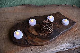 Svietidlá a sviečky - Orechový svietnik, adventný 3 - 13821876_
