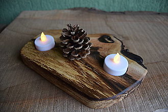 Svietidlá a sviečky - Svietnik - orech 2 - 13821994_