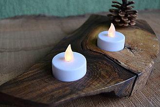 Svietidlá a sviečky - Svietnik - orech 3 - 13822047_