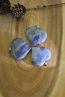 Minerály - srdce labradorit SUPERAKCIA - komponent - 13822624_