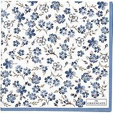 Papier - Servítka G 124- Marie petit dusty blue -large - 13822363_
