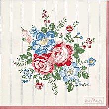 Papier - Servítka GG 126 -Henrietta white large - 13822394_