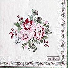 Papier - Servítka GG 127- Charline white large - 13822400_
