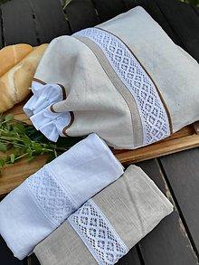 Úžitkový textil - Darčeková ľanová súprava - 13822320_