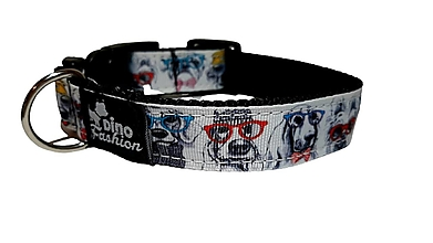 Pre zvieratá - Obojok Dogs With Glasses - 13821294_