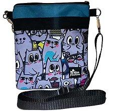 Iné tašky - Taška crossbody Cats - 13822845_
