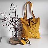 Nákupné tašky - Taška bradáč (Žltá) - 13821455_