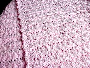 Textil - háčkovaná deka - 13823236_