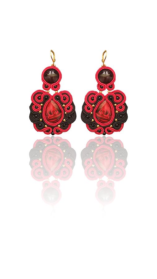 REGINA ROSA handmade soutache náušnice - autorské šperky LEKIDA