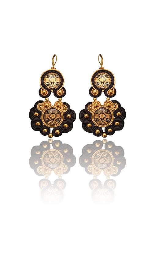DANZATRICE ORIENTALE handmade soutache náušnice - autorské šperky LEKIDA