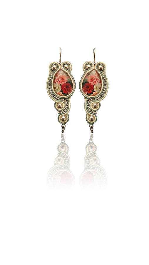 TEMPI LONTANI handmade soutache náušnice - autorské šperky LEKIDA