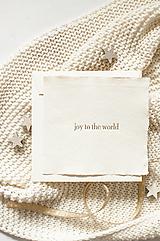 "Papiernictvo - Pozdrav z ručného papiera "" joy to the world"" - 13822895_"