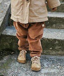 Detské oblečenie - Kačky - retro menčestráky - 13822211_