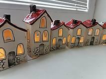 Dekorácie - keramika domčeky... - 13822317_