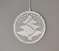 Dekorácie - Vianočná háčkovaná dekorácia do okien - 13824326_