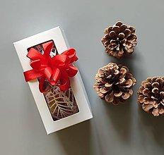 Dekorácie - Háčkované vianočné banky v krabičke - 2 ks - 13824503_