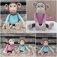 Hračky - Hačkovaná opička - 13821060_
