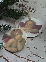 Dekorácie - Vianočné ozdoby anjel - 13824882_