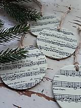 Dekorácie - Vianočné ozdoby nota - 13825002_