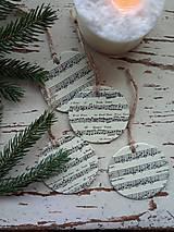 Dekorácie - Vianočné ozdoby nota - 13825003_