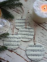 Dekorácie - Vianočné ozdoby nota - 13825005_
