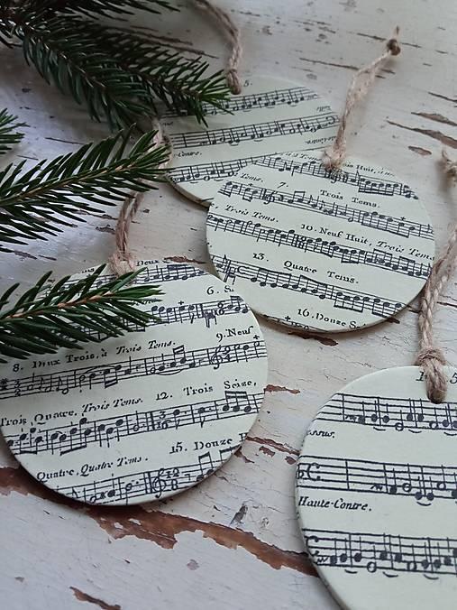 Vianočné ozdoby nota