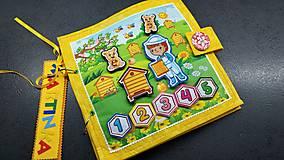 Hračky - Textilná kniha - 13825049_