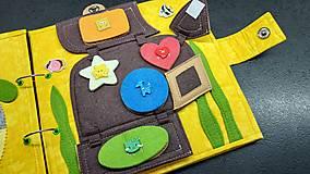 Hračky - Textilná kniha - 13825060_