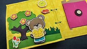 Hračky - Textilná kniha - 13825062_