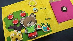 Hračky - Textilná kniha - 13825063_