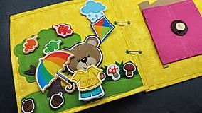 Hračky - Textilná kniha - 13825064_