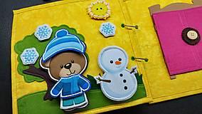 Hračky - Textilná kniha - 13825065_