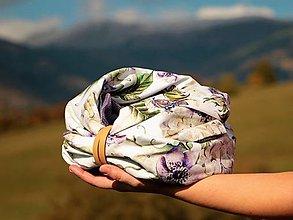 Šatky - Štýlový nákrčník s motýľom - 13829725_