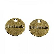Komponenty - PR21- kovová placka - handmade, 14 mm - 13825652_