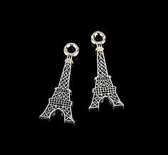 Komponenty - PR23 - kovový prívesok - Eiffelova veža, 30x11 mm - 13827831_