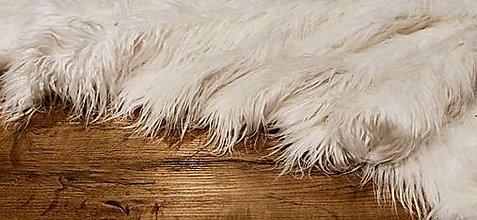 Textil - Kožušina umelá - Biela Škriatkovská - cena za 10 cm - 13828842_