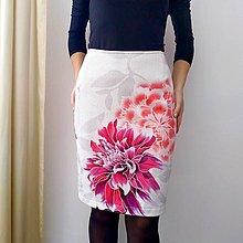 Sukne - Úpletová sukňa MAXIKVETY SPORTALM - 13829184_