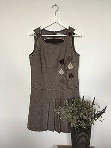 Sukne - Šatová tvídová sukňa s aplikáciou veľ.40 - 13826073_