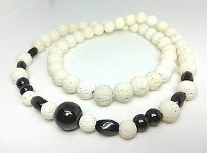 Šperky - Pánsky náhrdelník láva s hematitom - 13828402_