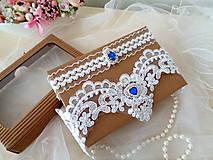 Bielizeň/Plavky - Sada luxusných svadobných podväzkov  - 13827674_