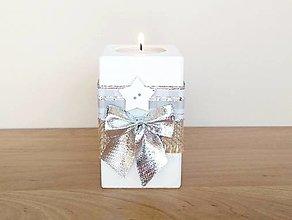 Svietidlá a sviečky - Vianočný svietnik 🎄 - 13826498_
