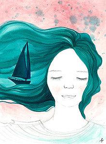 Magnetky - Snívam o mori, magnetka - 13827796_