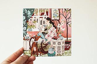 """Papier - Pohľadnica """"Wabi- Sabi"""" - 13829345_"""