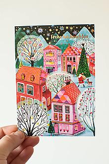 """Papier - Pohľadnica """"Frohe Weihnachten"""" - 13829599_"""