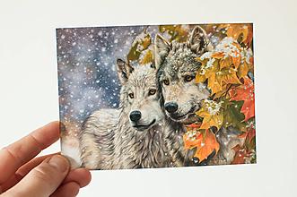 "Papier - Pohľadnica ""wolfs"" - 13829683_"