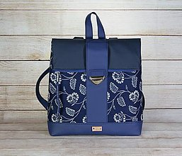 Batohy - Modrotlačový batoh MILAN 2 - 13827560_