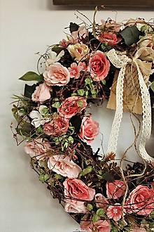 Dekorácie - Romantický staroružový venček - 13829717_