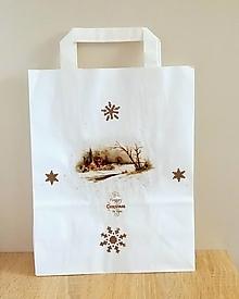 Iné tašky - darčeková taška zimná krajinka - 13829299_